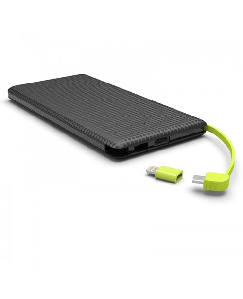 fe1758ff8 Power Bank Slim com cabo 5000mAh