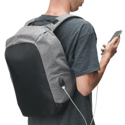 mochila anti furto usb 10